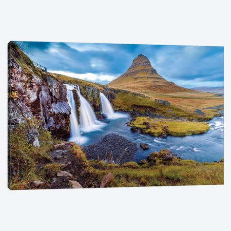 Kirkjufell Waterfall II Canvas Print #SKR124} by Susanne Kremer Canvas Print
