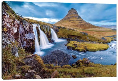Kirkjufell Waterfall II Canvas Art Print