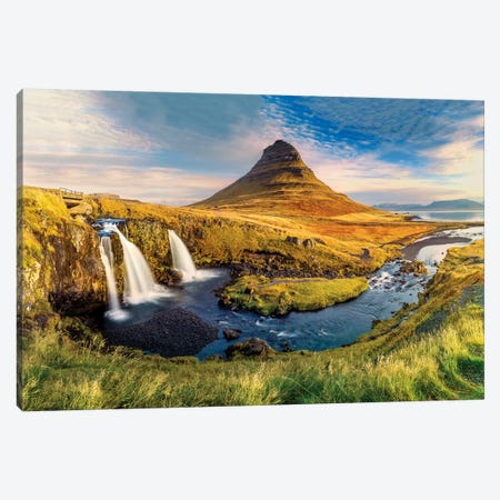 Kirkjufell Waterfall III Canvas Print #SKR125} by Susanne Kremer Art Print