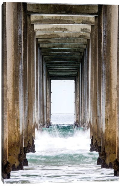La Jolla Sropps Beach Pier  Canvas Art Print