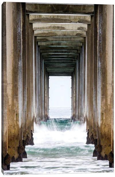 La Jolla Sropps Beach Pier  Canvas Art Print