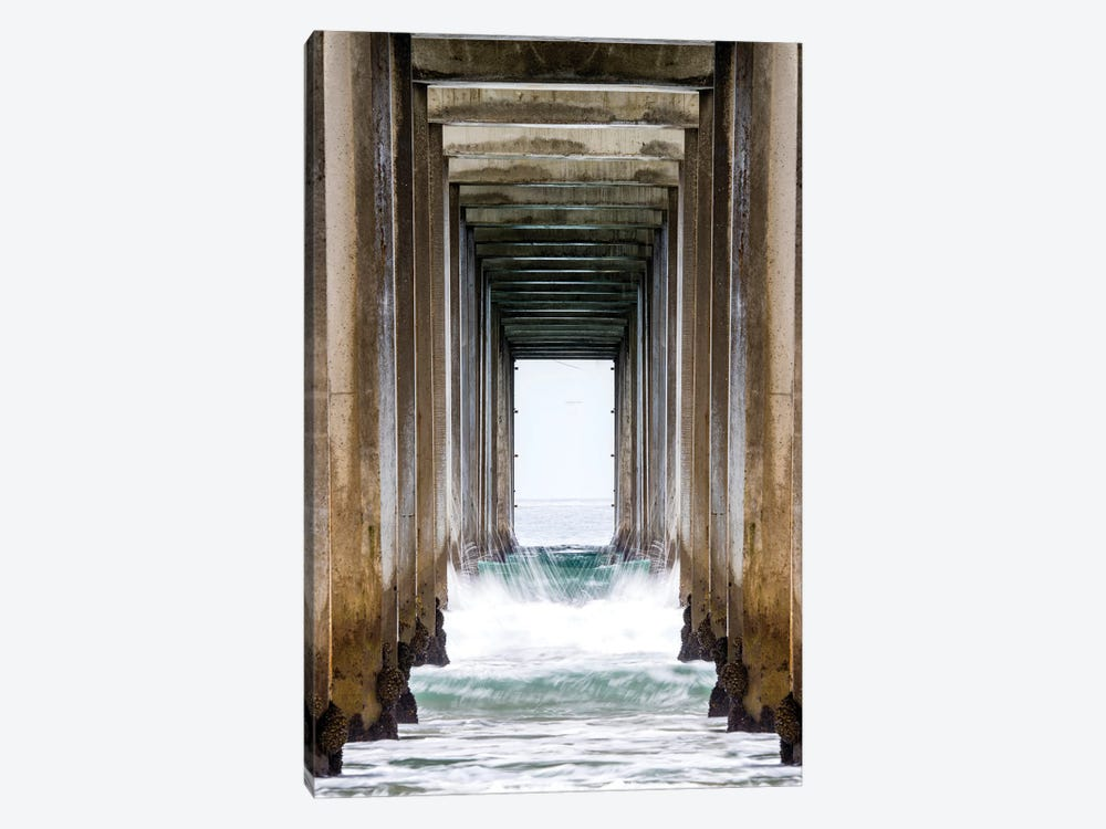 La Jolla Sropps Beach Pier  by Susanne Kremer 1-piece Canvas Artwork