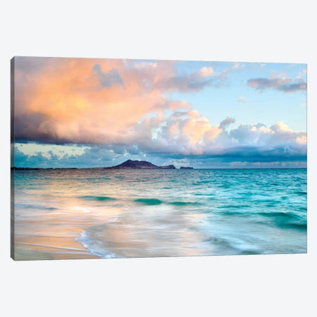 Lanikai Beach near Honululu Canvas Print #SKR127} by Susanne Kremer Art Print