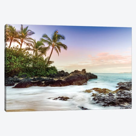 Makena Beach, Makena State Park  Canvas Print #SKR129} by Susanne Kremer Canvas Wall Art