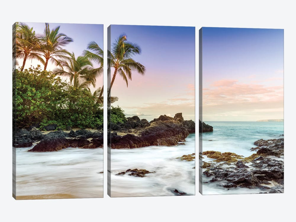 Makena Beach, Makena State Park  by Susanne Kremer 3-piece Art Print