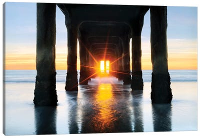 Manhattan Beach  Pier Canvas Art Print