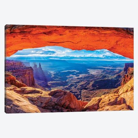 Mesa Arch Sunrise  Canvas Print #SKR136} by Susanne Kremer Canvas Artwork