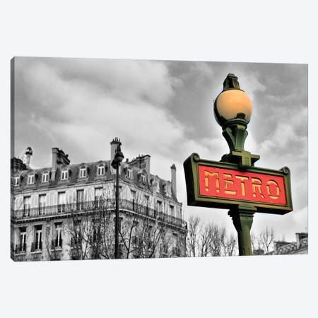 Metro Sign  Canvas Print #SKR137} by Susanne Kremer Canvas Art