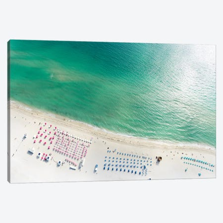 Miami Beach Arial View I Canvas Print #SKR138} by Susanne Kremer Canvas Print