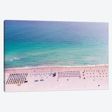 Miami Beach Arial View II Canvas Print #SKR139} by Susanne Kremer Canvas Art Print