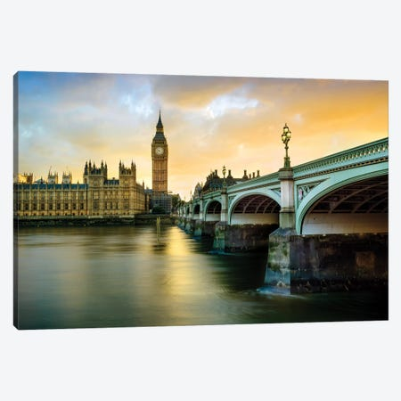 Big Ben and Palace of Westminster IV Canvas Print #SKR13} by Susanne Kremer Canvas Art Print