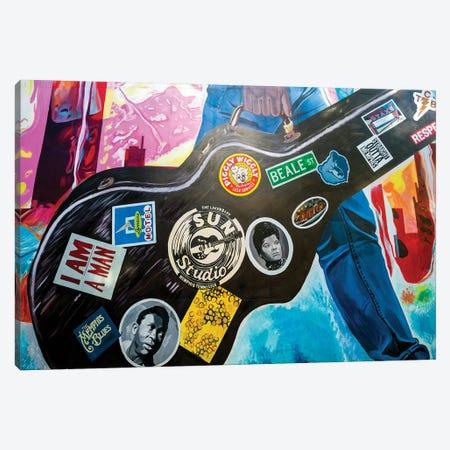 Music Graffiti on Main Street  Canvas Print #SKR140} by Susanne Kremer Canvas Wall Art
