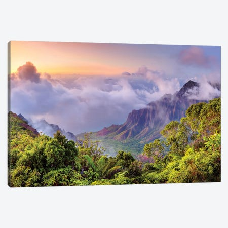 Napali Coast, Napali State Park I Canvas Print #SKR141} by Susanne Kremer Canvas Wall Art