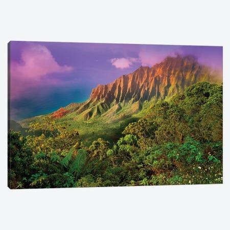 Napali Coast, Napali State Park II Canvas Print #SKR142} by Susanne Kremer Canvas Artwork