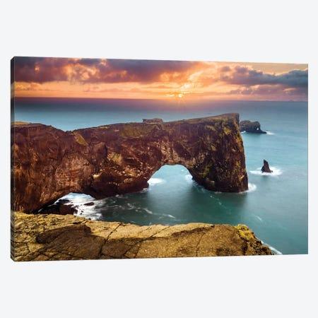 Natural Arch on Cape Dyrholaey  Canvas Print #SKR145} by Susanne Kremer Canvas Print