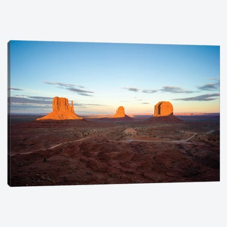 Navajo Tribal Park, Monumental Valley Sunset Canvas Print #SKR149} by Susanne Kremer Canvas Art