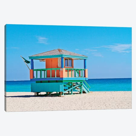 Ocean Drive Lifeguard House South Beach III Canvas Print #SKR153} by Susanne Kremer Canvas Print