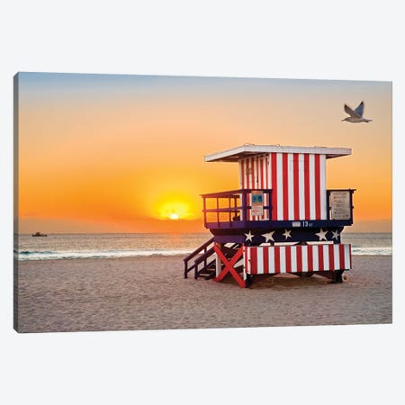 Ocean Drive Lifeguard House South Beach IV Canvas Print #SKR154} by Susanne Kremer Canvas Artwork