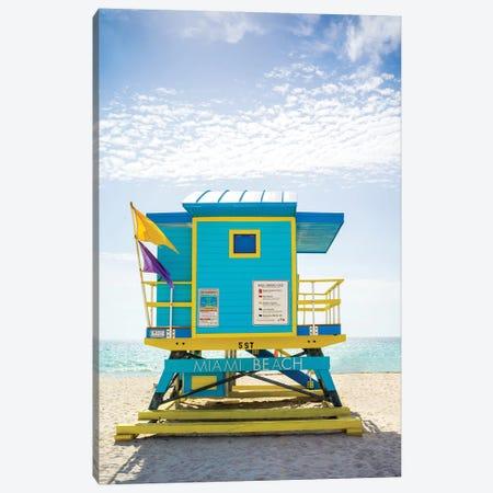 Ocean Drive Lifeguard House South Beach VI Canvas Print #SKR156} by Susanne Kremer Canvas Art