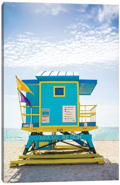 Ocean Drive Lifeguard House South Beach VI Canvas Art Print