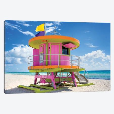 Ocean Drive Lifeguard House South Beach VII Canvas Print #SKR157} by Susanne Kremer Canvas Artwork