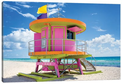 Ocean Drive Lifeguard House South Beach VII Canvas Art Print