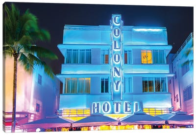 Ocean Drive, Colony Hotel I Canvas Art Print
