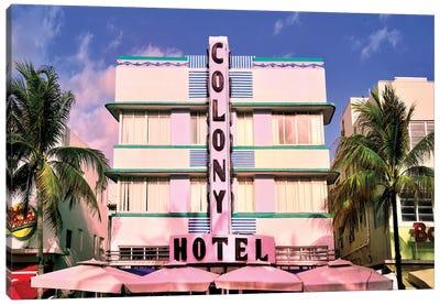 Ocean Drive, Colony Hotel II Canvas Art Print