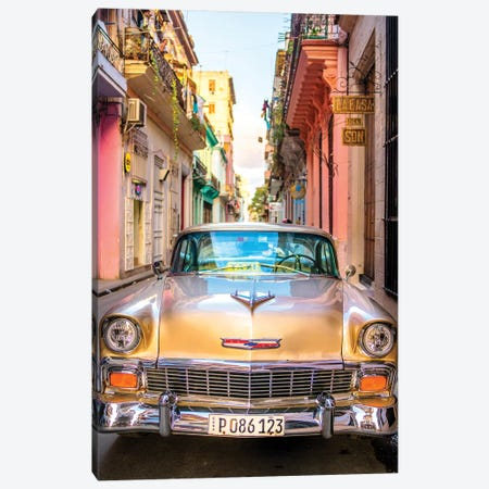 Oldtimer Old Havana I Canvas Print #SKR161} by Susanne Kremer Canvas Artwork