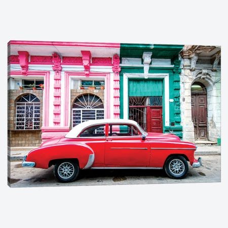 Oldtimer, Old Havana III Canvas Print #SKR163} by Susanne Kremer Canvas Wall Art