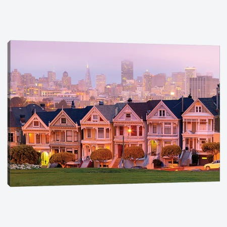 Painted Ladies, Transamerica Pyramid with Skyline I Canvas Print #SKR166} by Susanne Kremer Canvas Print