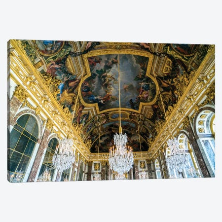 Palace of Versailles, Hall of Mirrors  Canvas Print #SKR168} by Susanne Kremer Canvas Wall Art