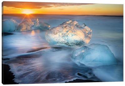 Blocks of Ice, Diamond Beach I Canvas Art Print