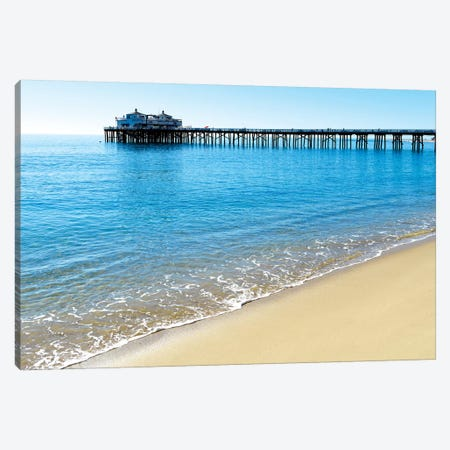 Pier Malibu Beach I Canvas Print #SKR172} by Susanne Kremer Canvas Art Print