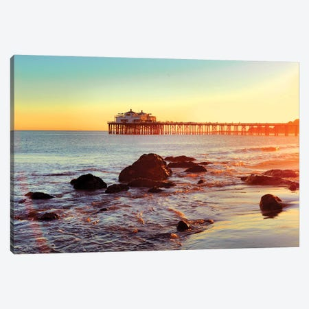 Pier Malibu Beach II Canvas Print #SKR173} by Susanne Kremer Canvas Art Print