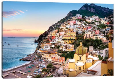 Positano, Church Santa Maria Assunta I Canvas Art Print
