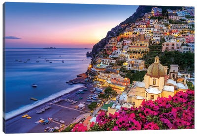 Positano, Church Santa Maria Assunta III Canvas Art Print