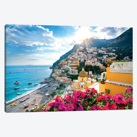 Positano, Church Santa Maria Assunta V   Canvas Print #SKR188} by Susanne Kremer Canvas Art