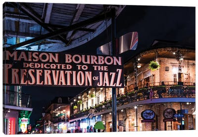 Bourbon Street Nightlife French Quarter  Canvas Art Print