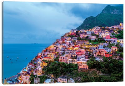 Positano, Illuminated  Canvas Art Print