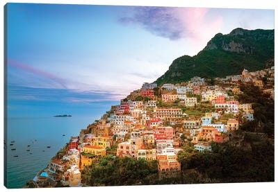 Positano, Sunset  Canvas Art Print