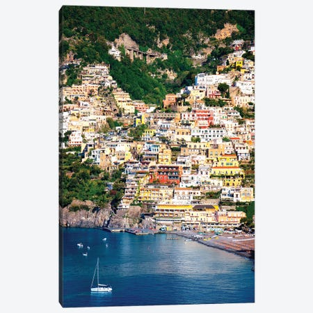 Positano, View Of Town  Canvas Print #SKR193} by Susanne Kremer Canvas Art Print