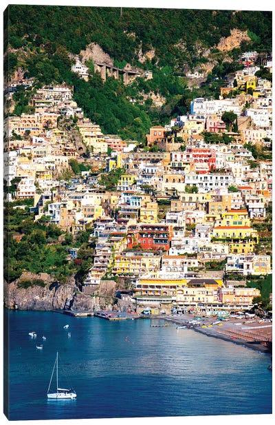 Positano, View Of Town  Canvas Art Print
