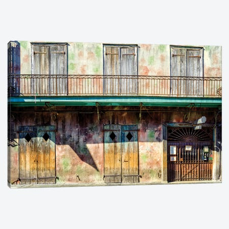 Preservation Hall, Jazzclub French Quarter Canvas Print #SKR194} by Susanne Kremer Canvas Art