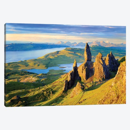 Quiraing and Trotternish Ridge Isle of Sky I Canvas Print #SKR195} by Susanne Kremer Canvas Wall Art