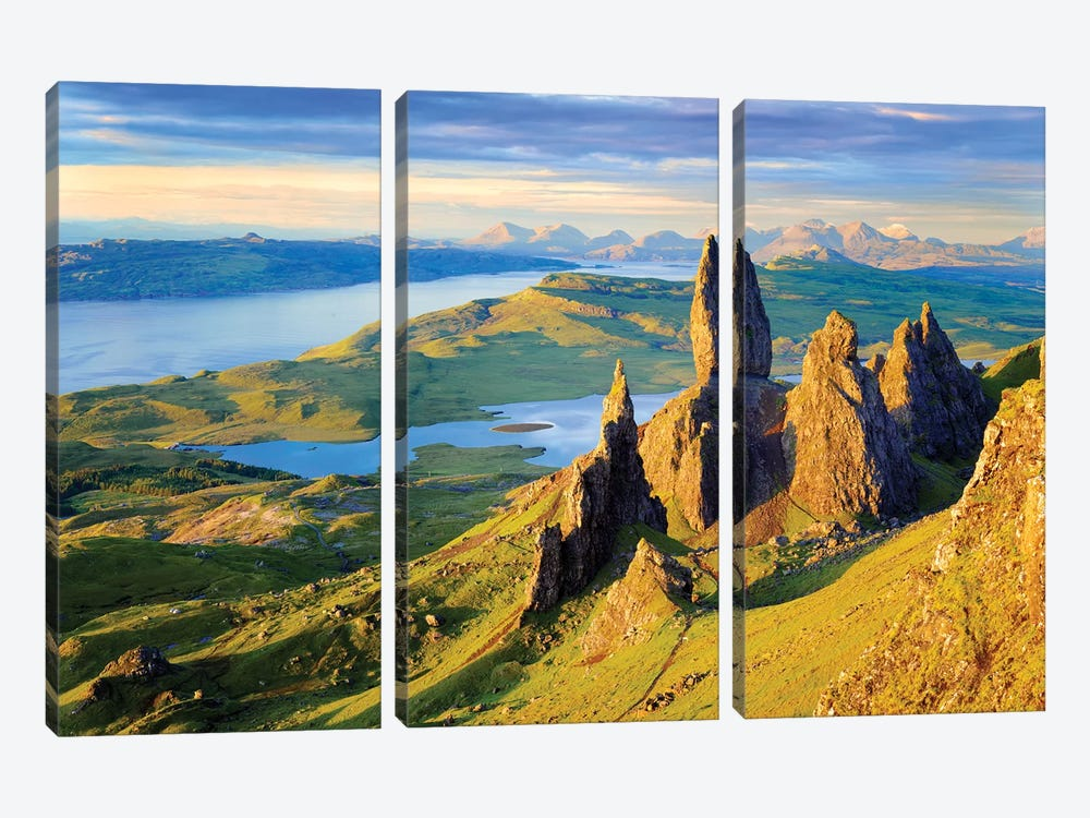 Quiraing and Trotternish Ridge Isle of Sky I by Susanne Kremer 3-piece Canvas Artwork