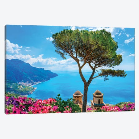 Ravello, View of Amalfi Coast I  Canvas Print #SKR197} by Susanne Kremer Canvas Art