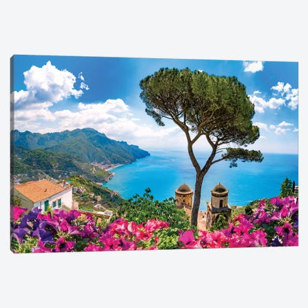 Ravello, View of Amalfi Coast II Canvas Print #SKR198} by Susanne Kremer Art Print