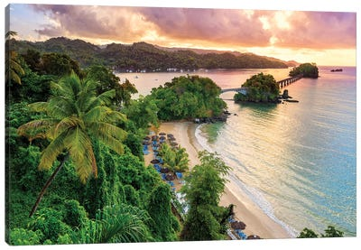 Bridge to Nowhere Sunrise Samana Town  Canvas Art Print