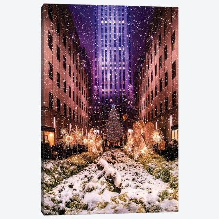 Rockefeller Center with Christmas Tree and Angels II Canvas Print #SKR201} by Susanne Kremer Art Print